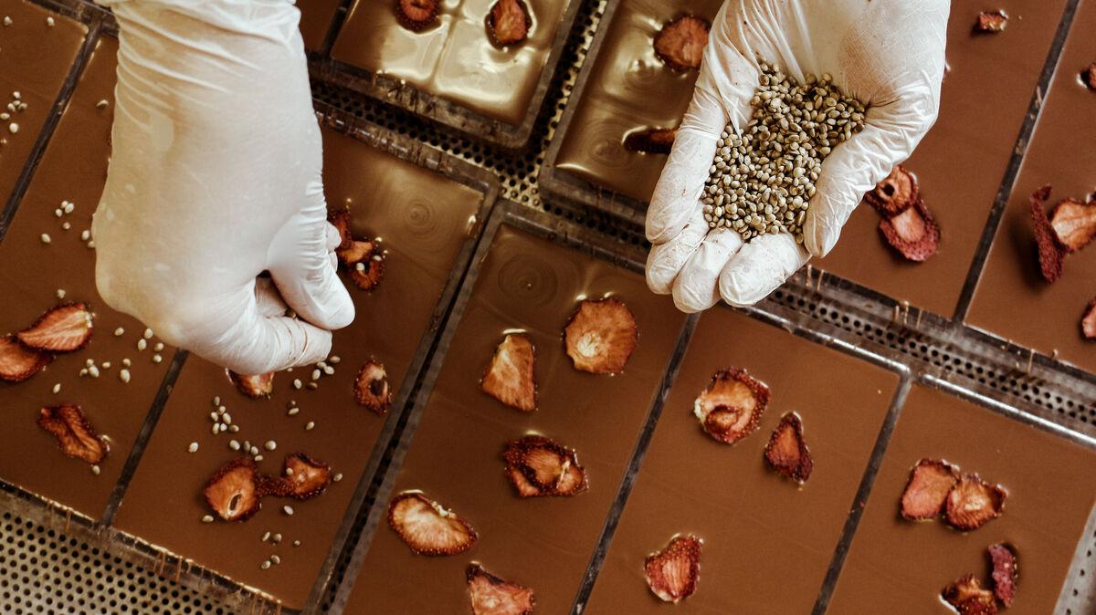 Hanf Schokolade Produktion