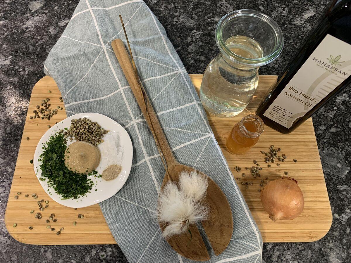 Salatdressing mit Hanf selbstgemacht