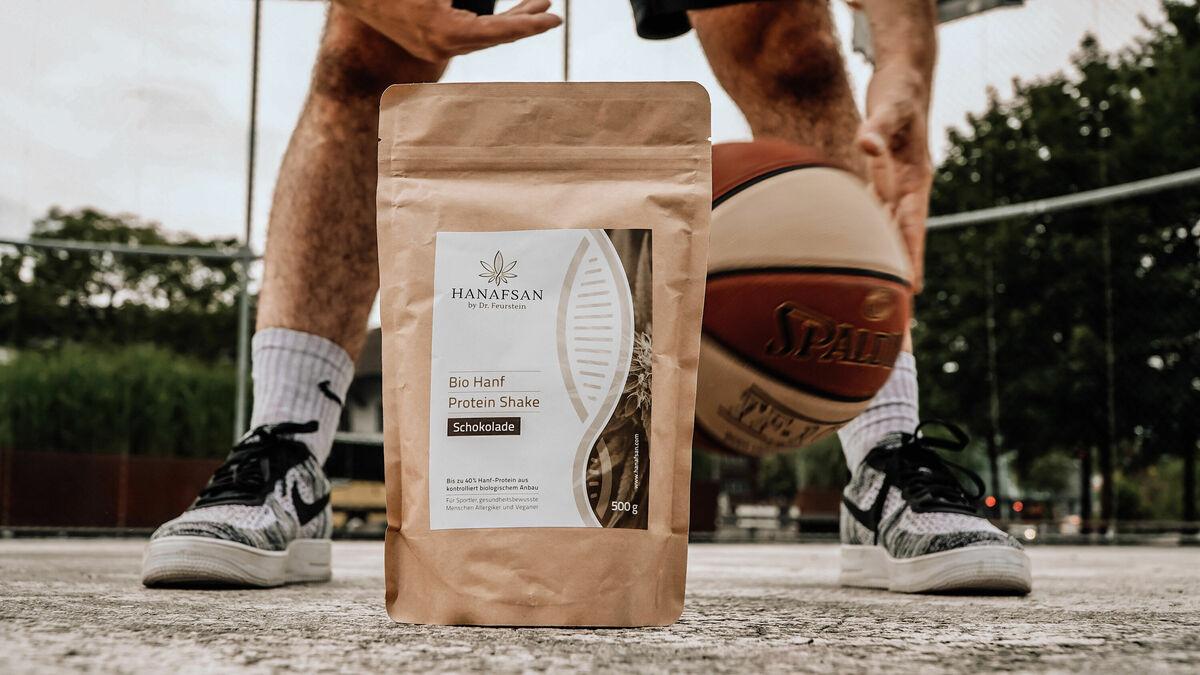 Hanf-Proteinshake für sportler